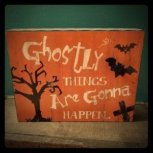 Halloween Box Sign New